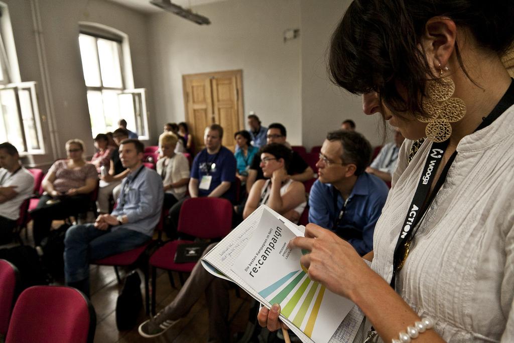 Teilnehmer/innen der re:campaign in Berlin