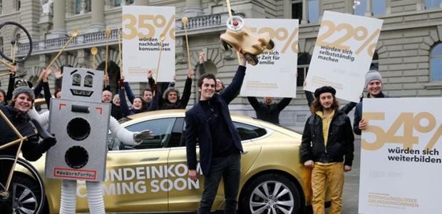Kampagne Volksinitiative für ein bedingungsloses Grundeinkommen, Foto: Initiative Grundeinkommen (Screenshot)