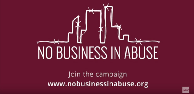 Kampagne No Business in Abuse, Foto: Screenshot Kampagnen Webseite