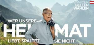 Kampagne Alexander Van der Bellen, Foto: vanderbellen.at