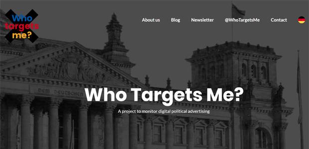 Who targets me_Kampagne des Jahres 2017; Foto: Screenshot https://whotargets.me/en
