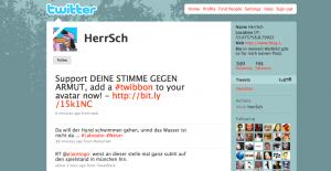 """Deine Stimme gegen Armut-Twibbon bei User """"HerrSch"""""""