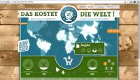 """""""Das kostet die Welt"""" - Online-Spiel der Welthungerhilfe"""