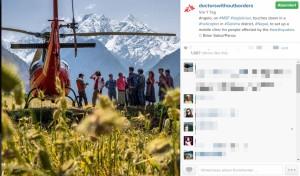 Instagram-Post von Ärzte ohne Grenzen